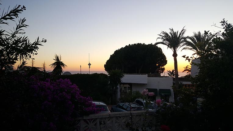 Solnedgång från terrassen!