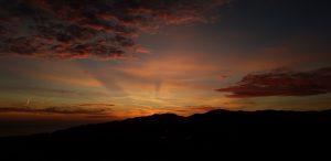 Magisk solnedgång från utsiktstornet
